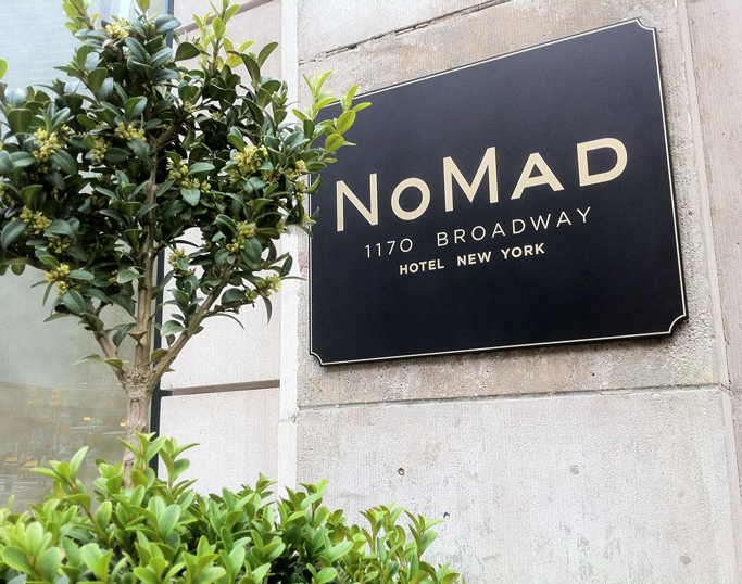 Hotels in NY: The NoMad Hotel by Jacques Garcia  Hotels in NY: The NoMad Hotel by Jacques Garcia NoMad Hotel Sign New York