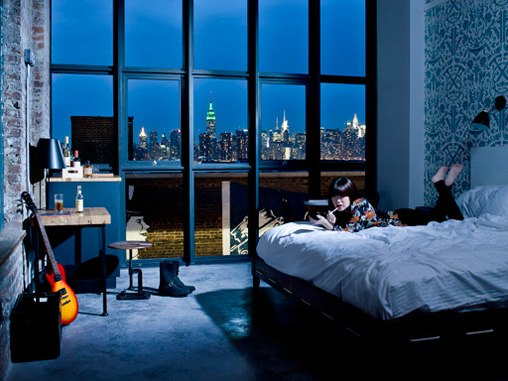 wythe-hotel-brooklyn-view-of-manhattan  The Wythe Hotel in Brooklyn, NY cn image