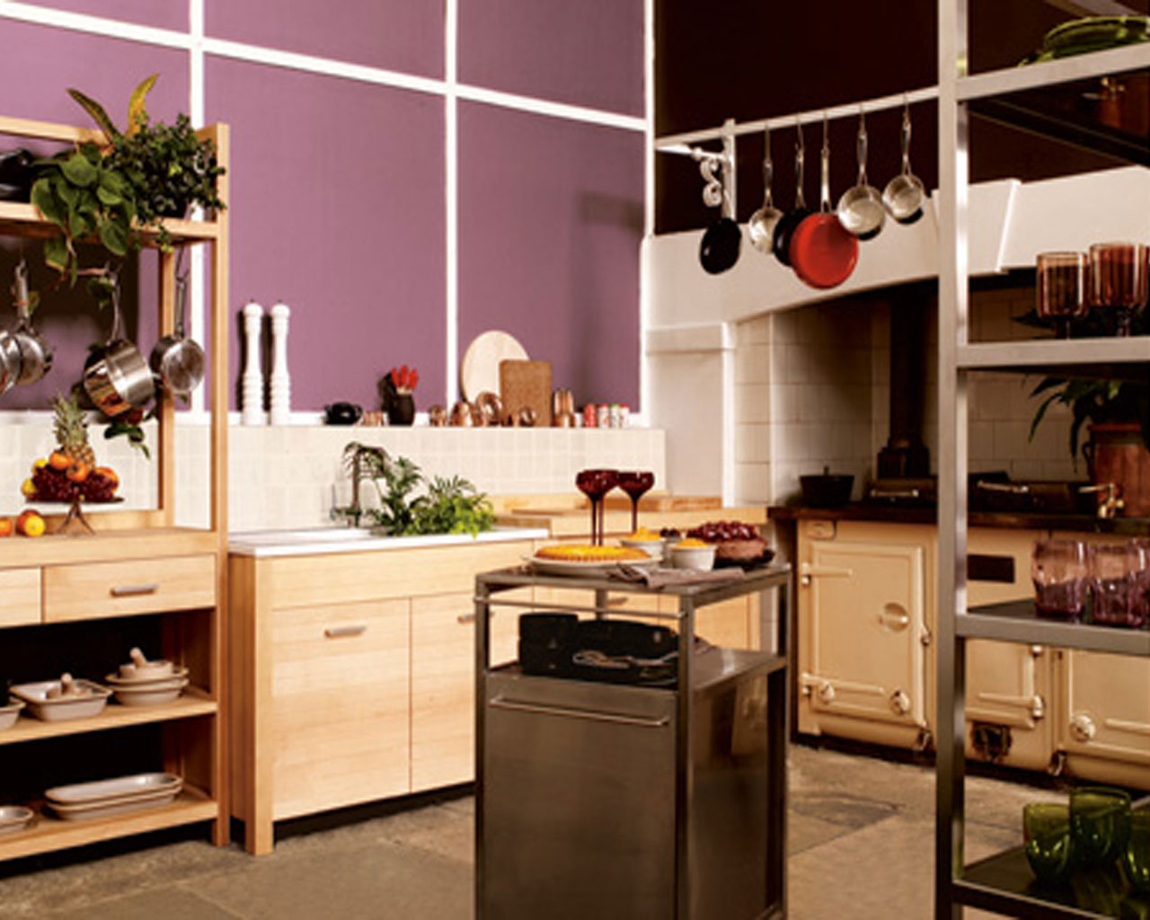 5 Hot Home Decorating trends in 2013  5 Hot Home Decorating trends in 2013 cozy kitchen with purple walls ideas design