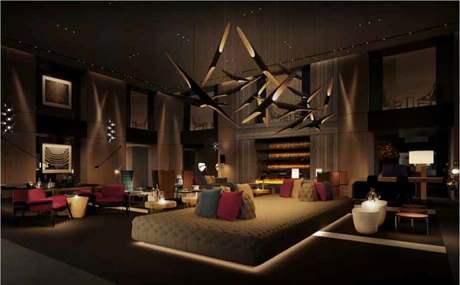 Paramount Hotel: Class Redecorated  Paramount Hotel: Class Redecorated Paramount Hotel New York Lobby Rendering Sept 2012 460x285