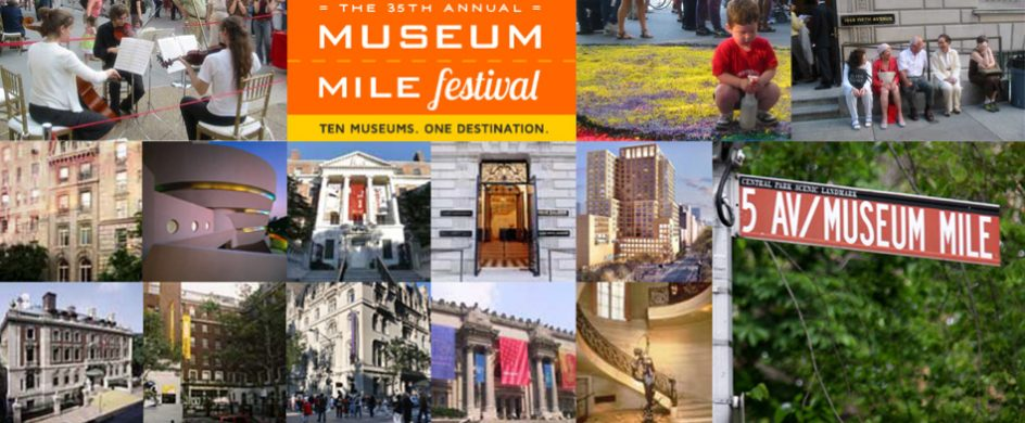 """Museum Mile Festival begun as an initiative to spur the development of new museum, this year at 11th June in a expect sunny day the event will have a new audience record. ""  Museum Mile Festival 2013 Museum Mile Festival 2013 944x390"