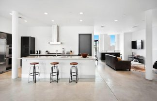 kitchen new york penthouse soho den open floor concept modern multi million dollar home new york design agenda