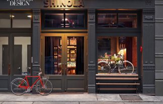 OUR MOST POPULAR ARTICLE OF 2014: Shinola Shop designed by Rockwell Group 440522 At the Rockwell Group s Shinola in TriBeCa bronze signage accents the cast iron facade Photography by Eric Laignel 1 324x208