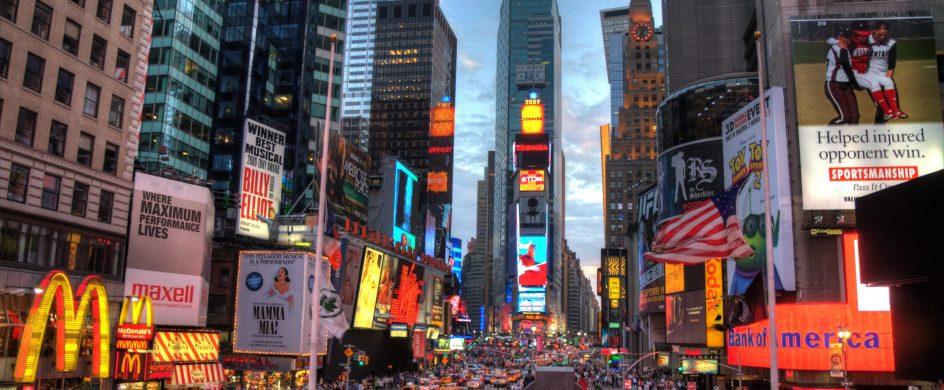 Top 10 Must Go Spots in New York City  Top 10 Must Go Spots in New York City New york times square terabass 944x390