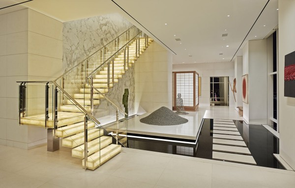 super-luxury-stairway-design-billionaire-penthouse-nyc  Ultra Luxury Penthouse of a Billionaire in New York City super luxury stairway design billionaire penthouse nyc