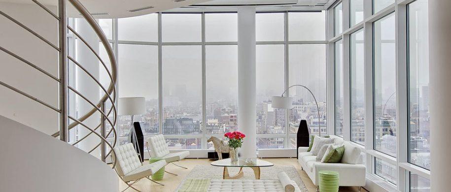 TOP INTERIOR DESIGNER: MARIE BURGOS  TOP INTERIOR DESIGNER: MARIE BURGOS white loft 915x390
