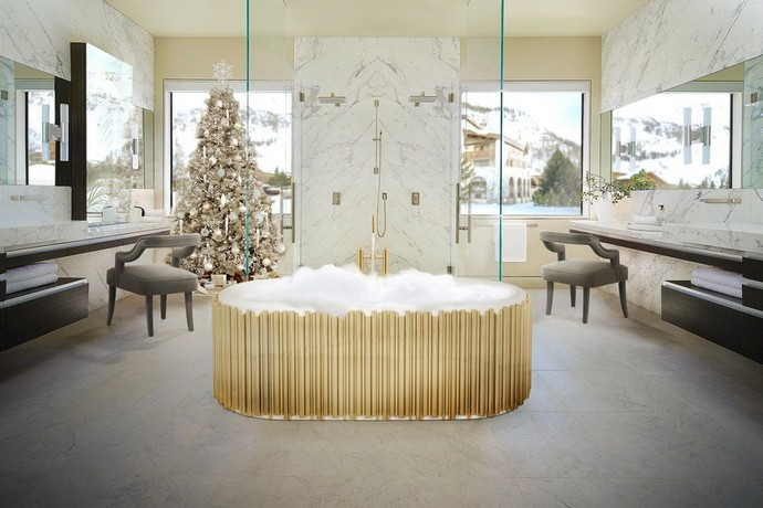Holidays Decor: Bring The Christmas Into Your Luxury Bathroom luxury bathroom Holidays Decor: Bring The Christmas Into Your Luxury Bathroom holidays decor bring christmas into luxury bathroom 3 1