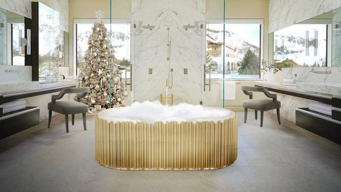 luxury bathroom Holidays Decor: Bring The Christmas Into Your Luxury Bathroom holidays decor bring christmas into luxury bathroom 3 690x390