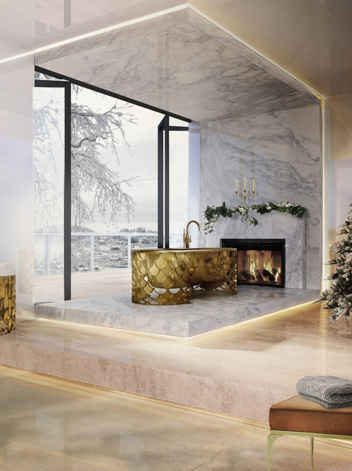 Holidays Decor: Bring The Christmas Into Your Luxury Bathroom luxury bathroom Holidays Decor: Bring The Christmas Into Your Luxury Bathroom holidays decor bring christmas into luxury bathroom 4 1